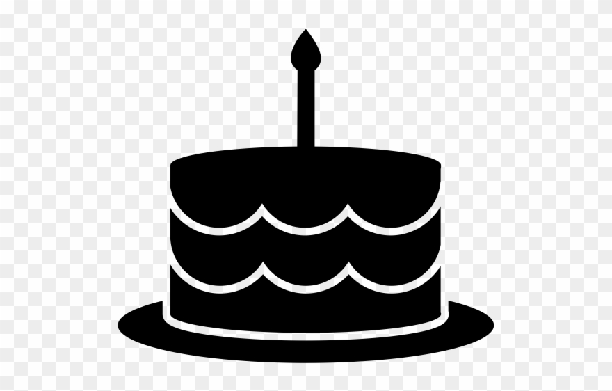 Admirable Black And White Birthday Cake Clip Art Png Download 2751732 Funny Birthday Cards Online Alyptdamsfinfo