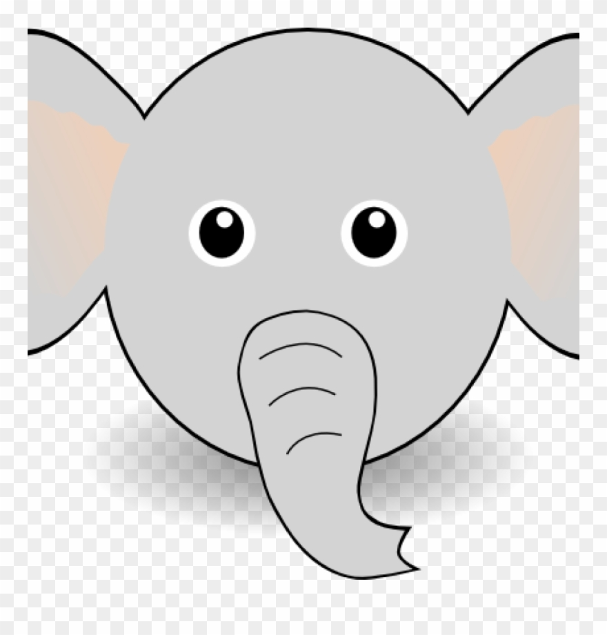 photograph about Elephant Outline Printable named Elephant Deal with Clipart Totally free Printable Elephant Template - Png