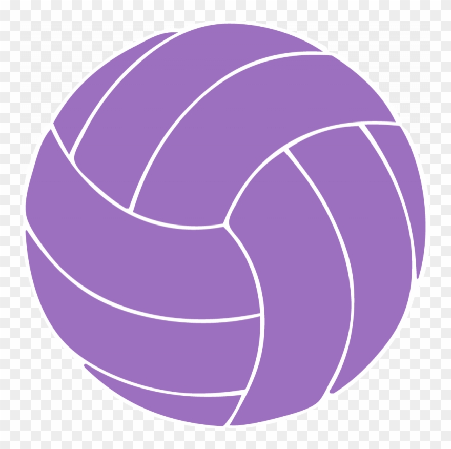 Volleyball purple. Collection of clipart