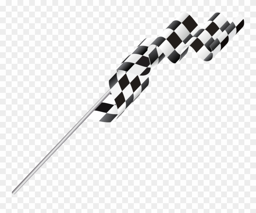 Clipart Elegant Racing Checkered Flag In