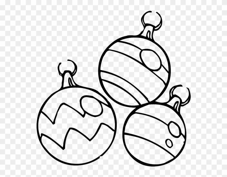 Christmas Ornaments Coloring Pages Clipart 2793381