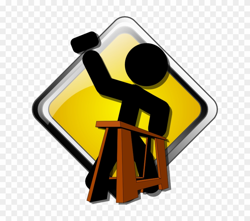 Construction Clipart Transparent Background - Under Construction Free Icon - Png Download