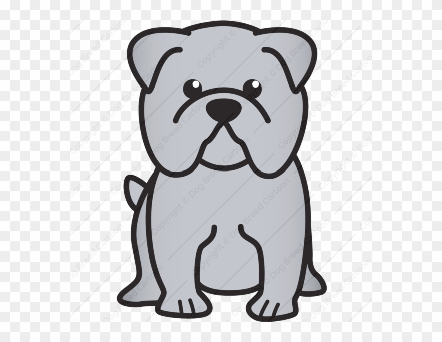 Bulldog Cartoon Easy Drawing Of A Bulldog Clipart 282061 Pinclipart