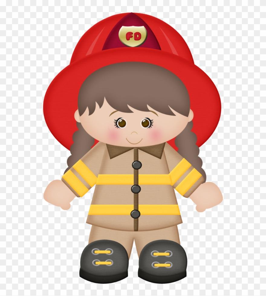 Fireman Clipart Fire Prevention Bombeiro Desenho Png