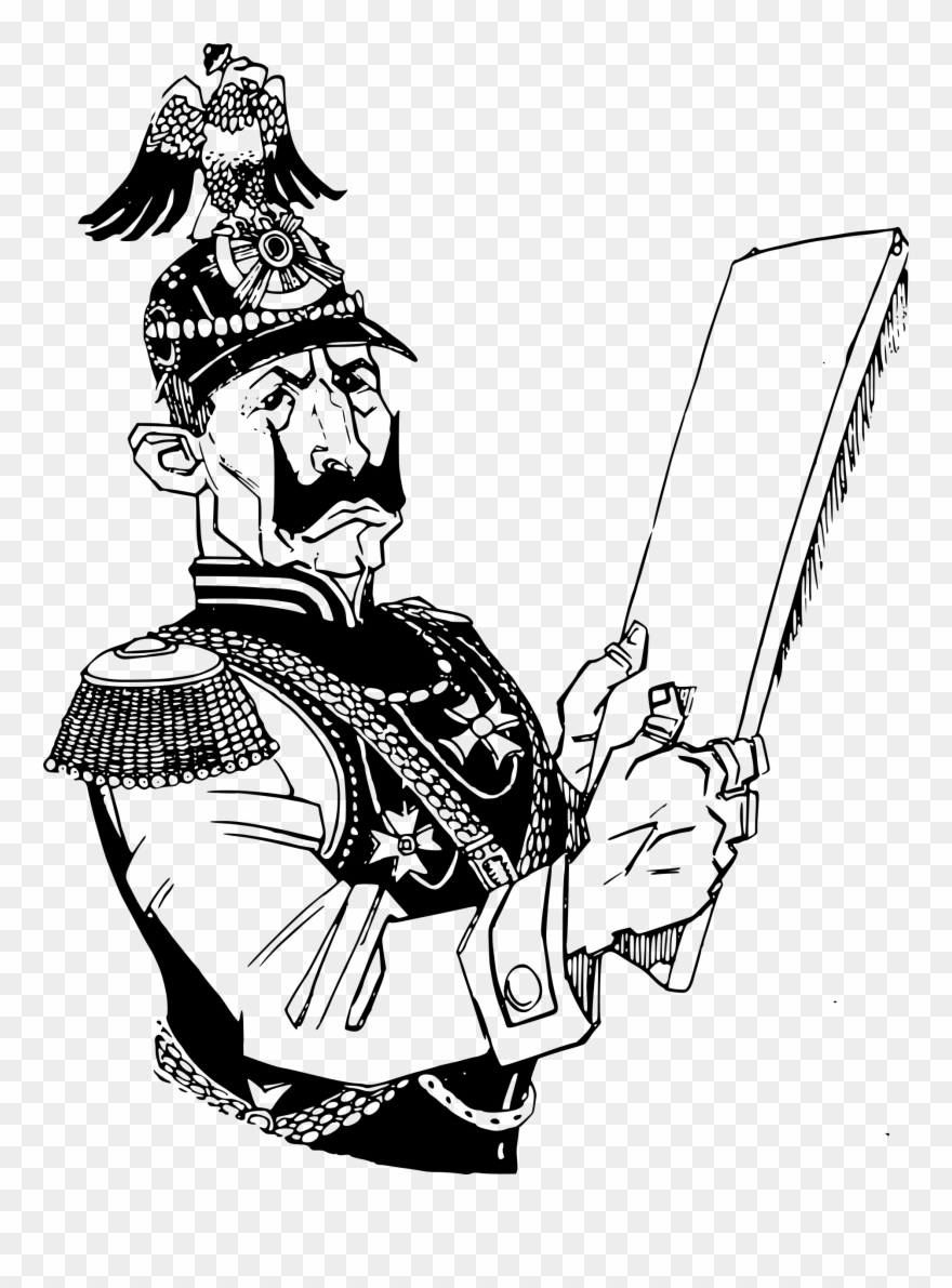 Wwi Soldier Cliparts - German Ww1 Soldier Cartoon - Png