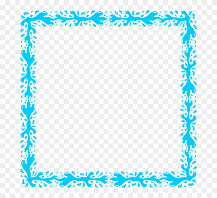 Frame transparent. Download blue png clipart