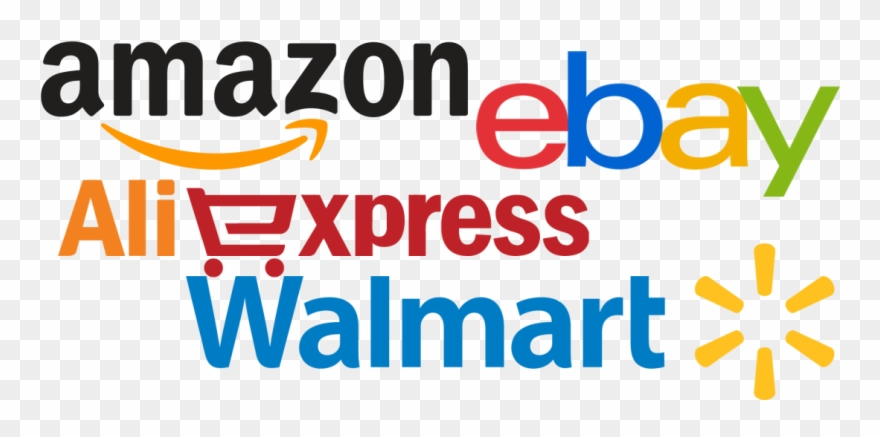 Dropshipping From Aliexpress, Amazon, Ebay And Walmart Clipart
