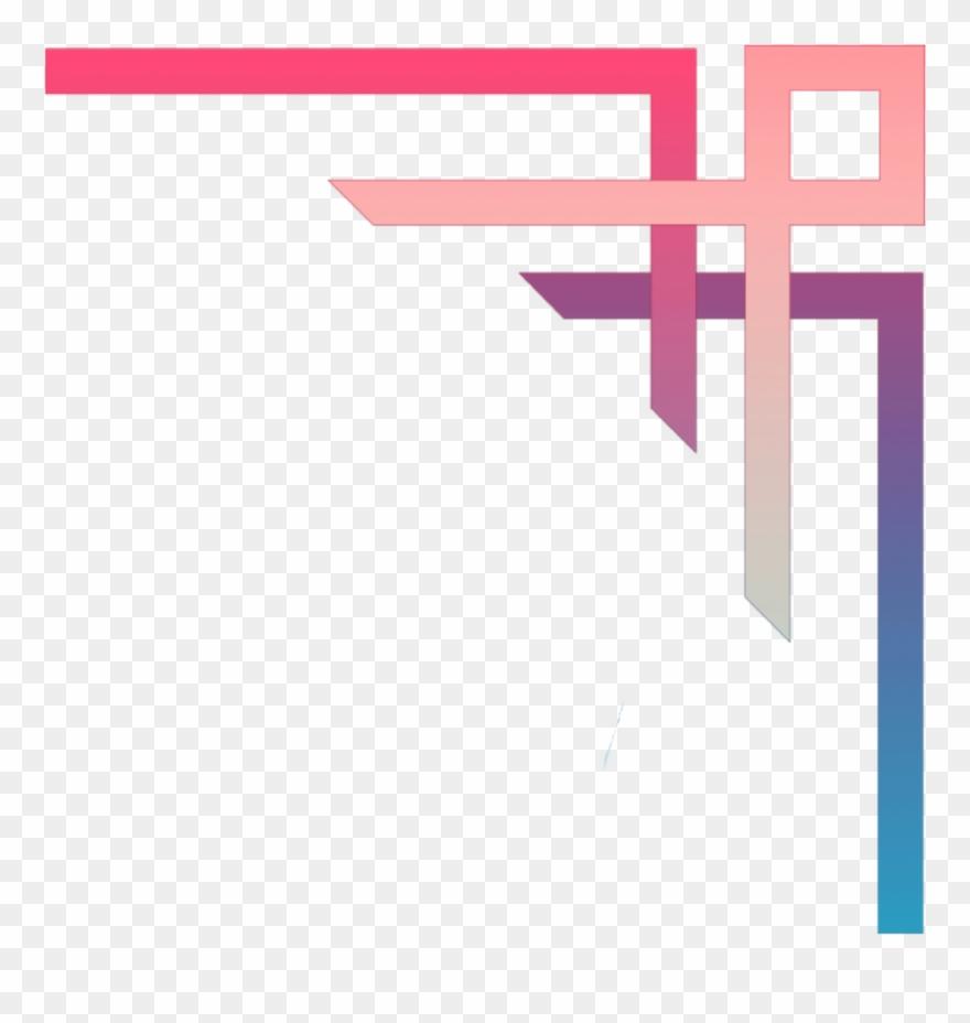 Vaporwave grunge aesthetic png. Free download border clipart