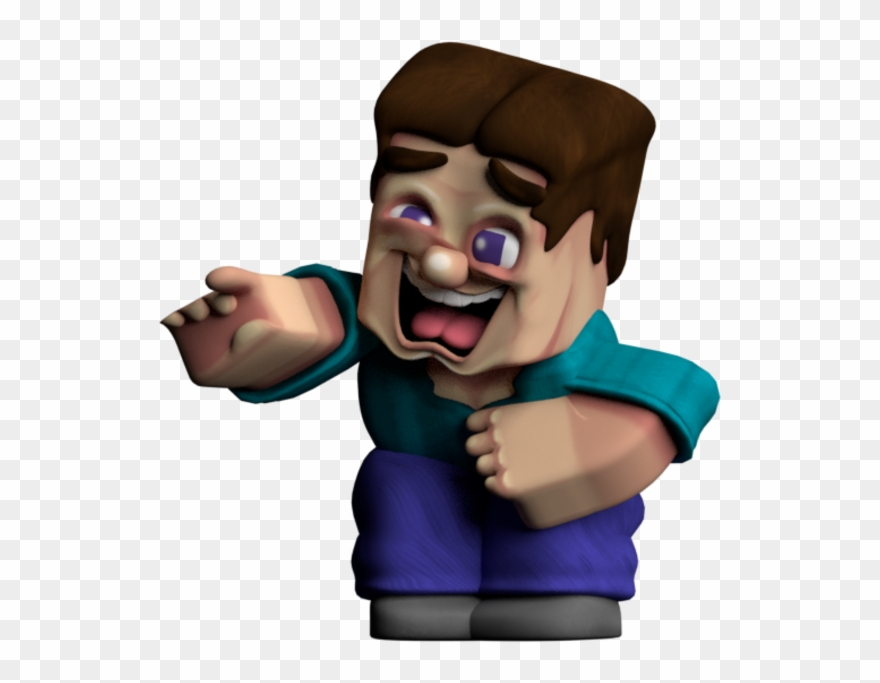 Minecraft Steve Laughing Clipart 2864823 Pinclipart
