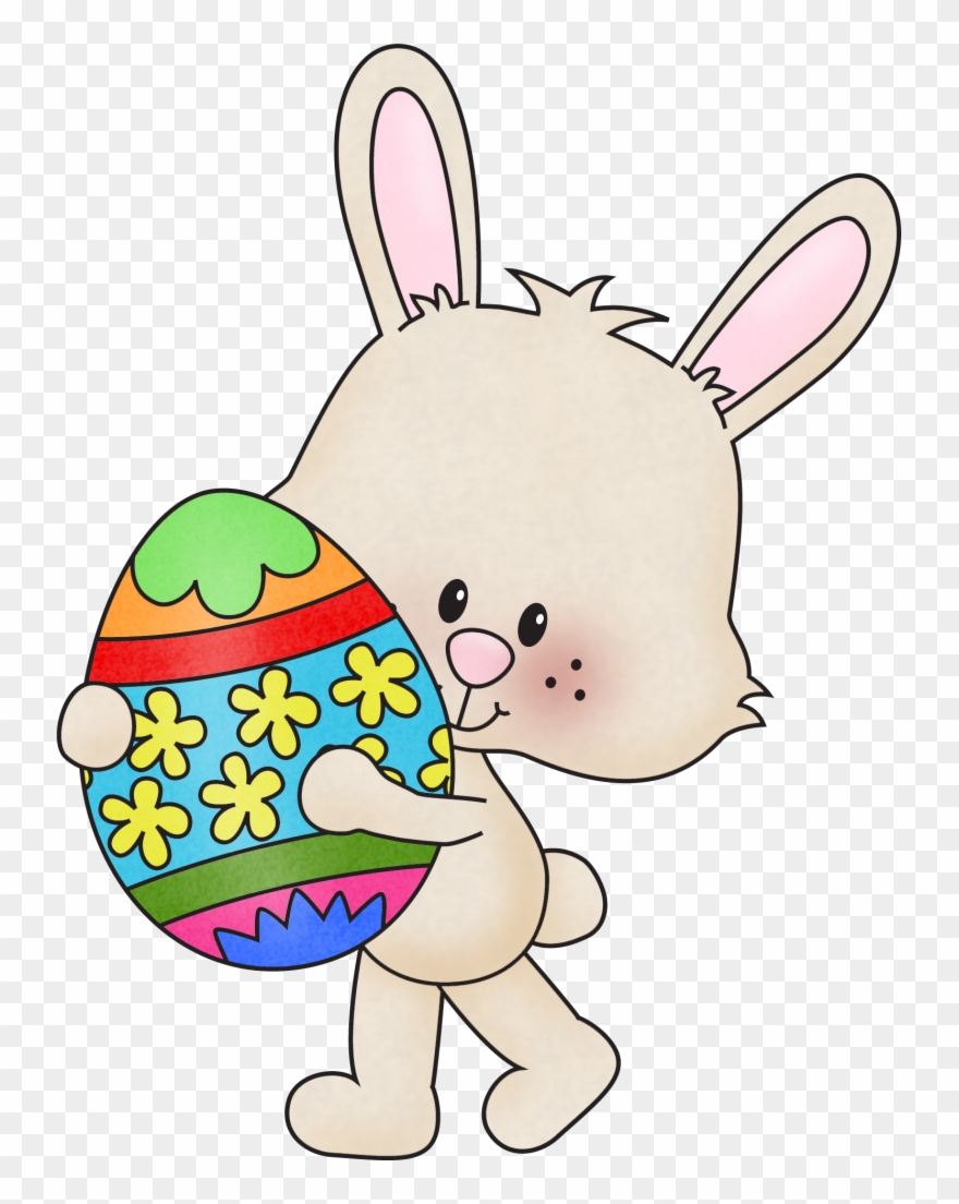 April easter. Clipart of edge and