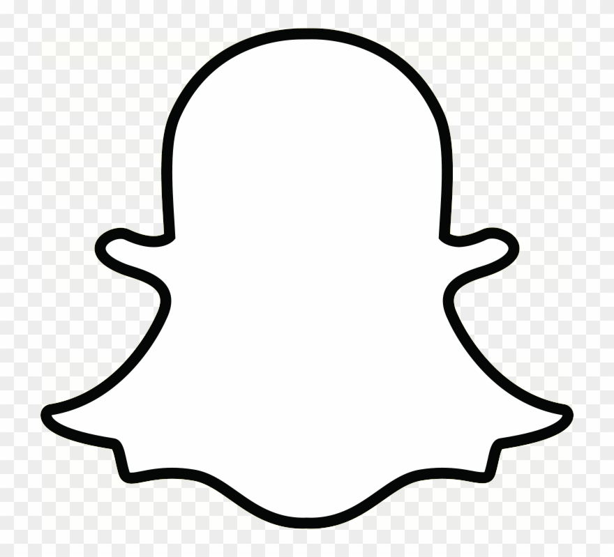 Snapchat Ghost Outline Transparent Png - Snapchat Logo White