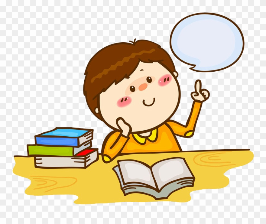 Clipart library cartoon. Stock child thinking student