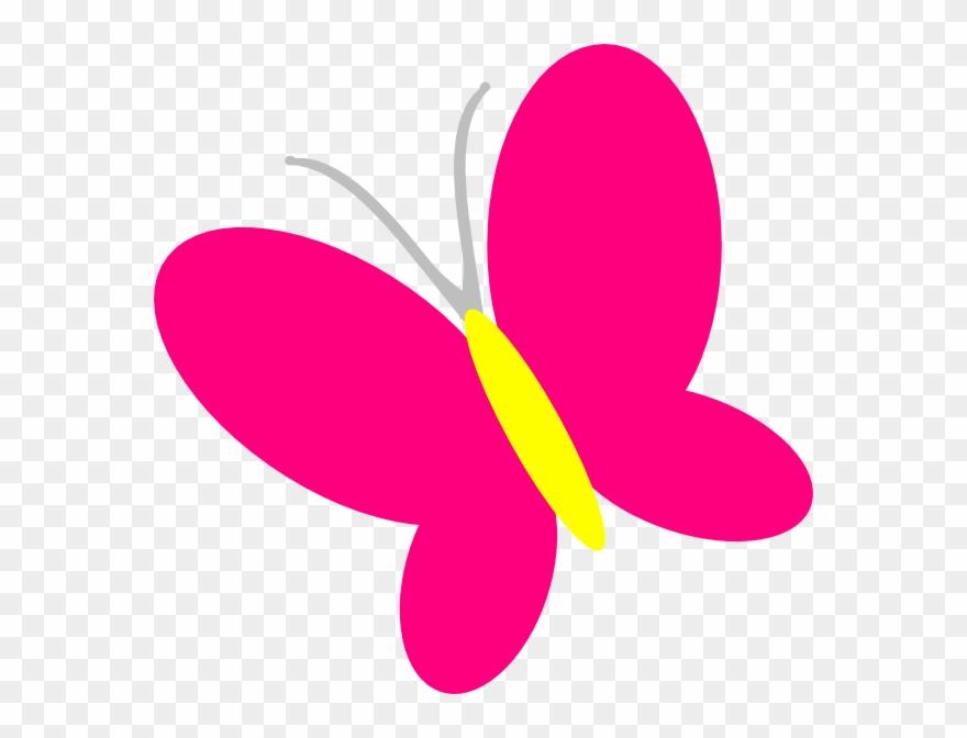 Clip art simple. Black butterfly silhouette free