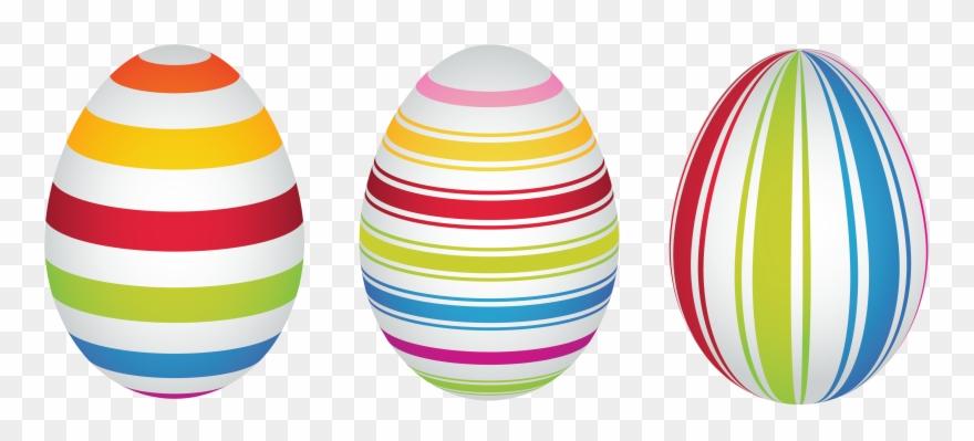 Easter Bunny Easter Egg Clip Art - Stripes Easter Egg Clipart - Png Download