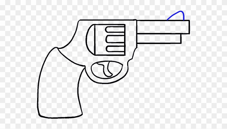 How To Draw A Cartoon Revolver In Cartoon Gun Drawing Easy Clipart