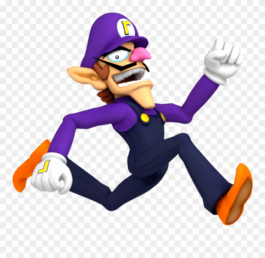 Waluigi high resolution. Transparent background clipart pinclipart