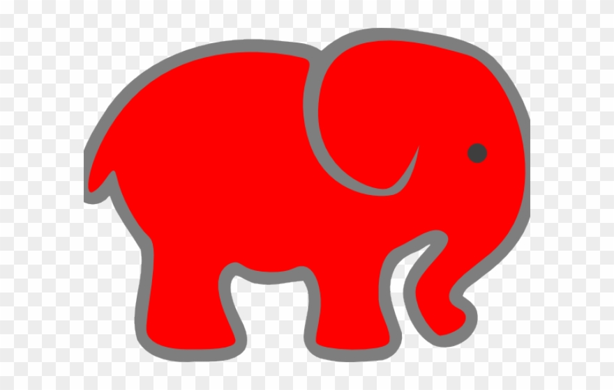 Elephant Clipart Red - Png Download (#2982119) - PinClipart