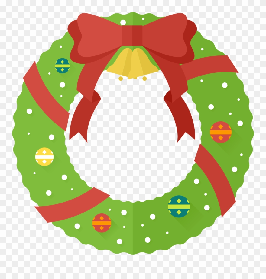 Christmas wreath cute. Free clipart png download