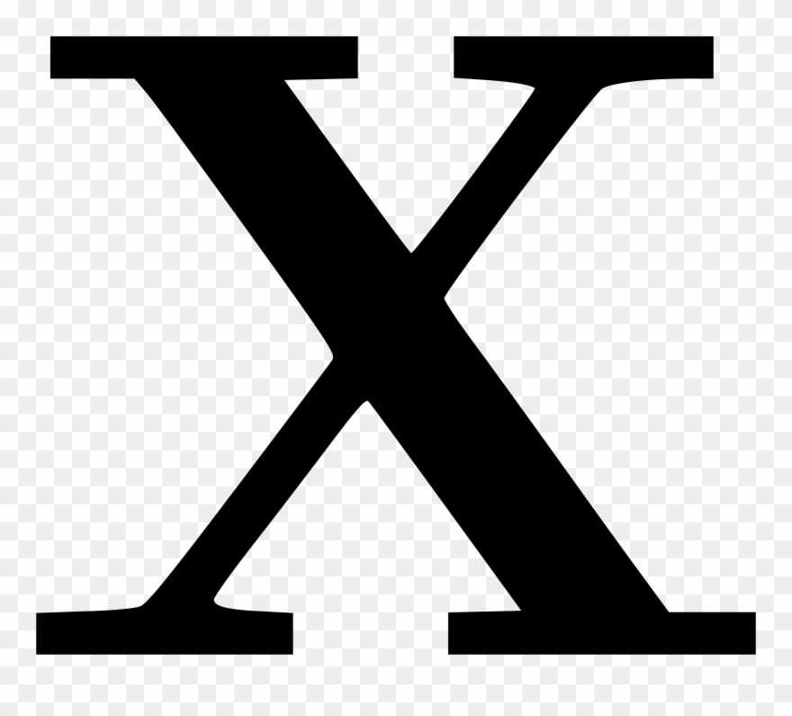 Cyrillic Letter X Clipart, Vector Clip Art Online, - Letter X - Png Download