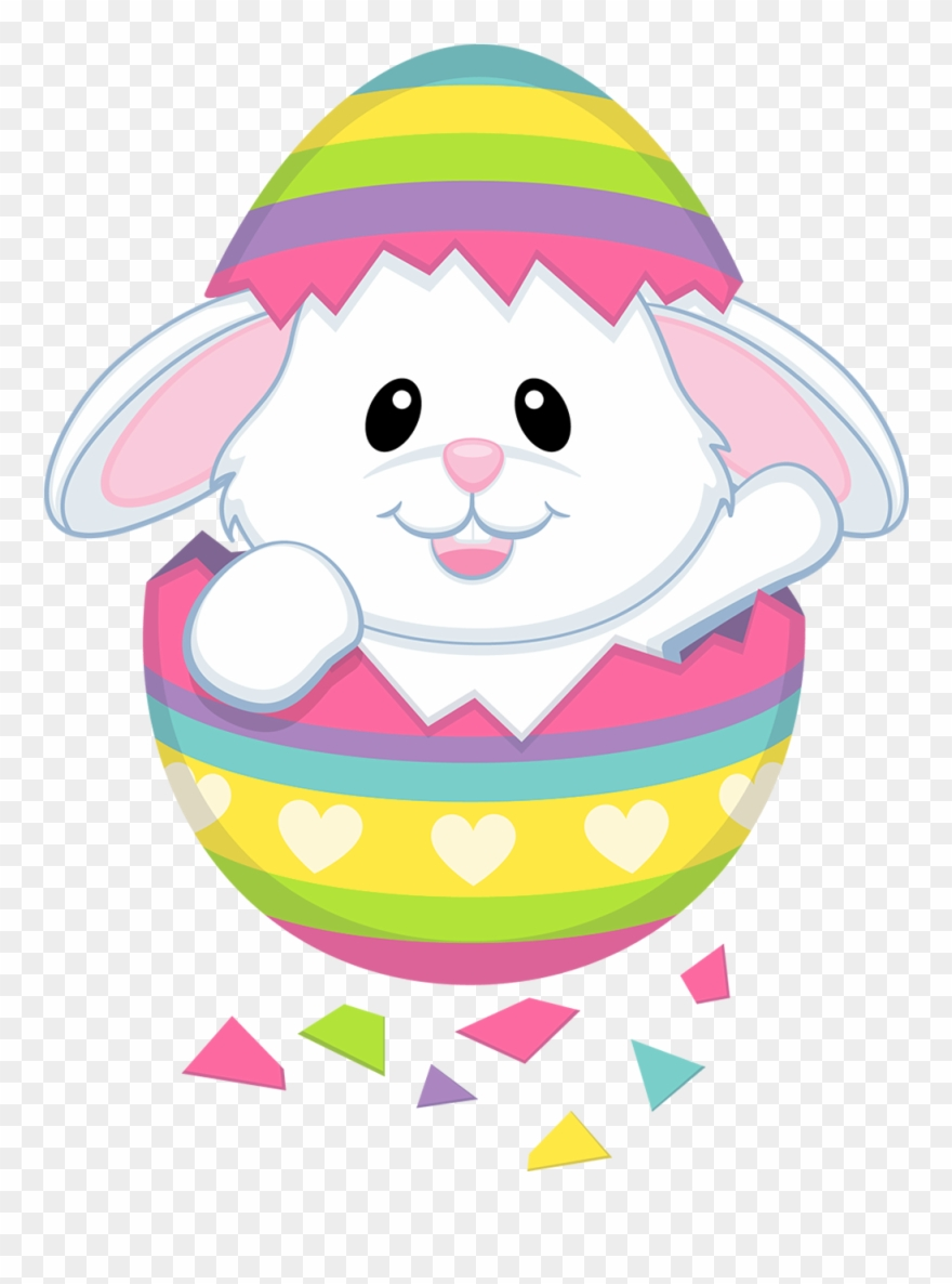 Easter bunny cute. Cliparts transparent png bunnies