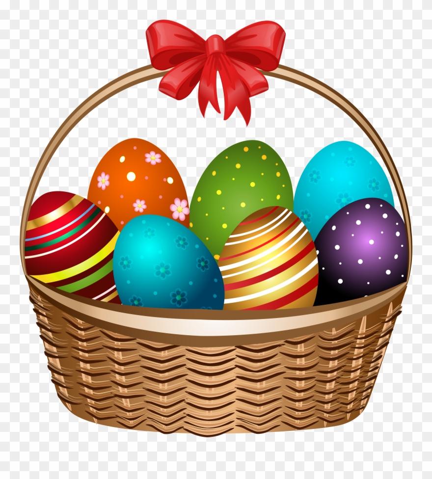 Easter transparent background. Basket clipart pinclipart