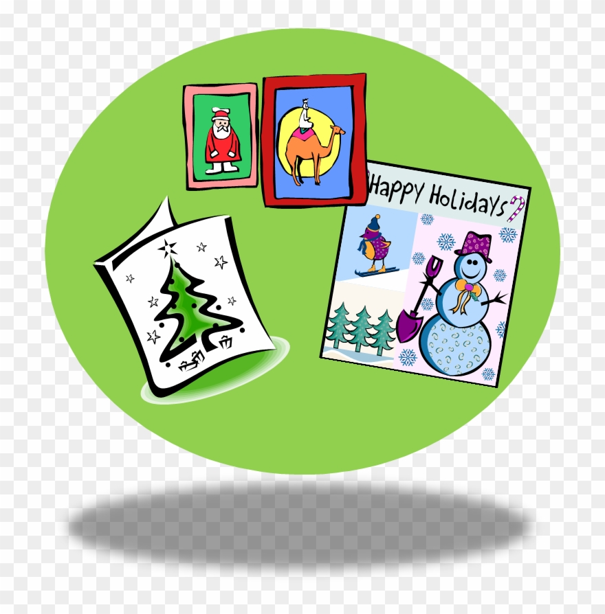 Christmas Card Clip Art.Clip Art Christmas Cards Happy Holidays Card Clipart Png