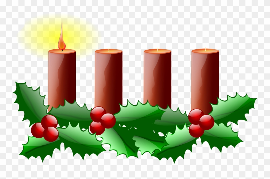 Advent candle. Wreath clipart free clip