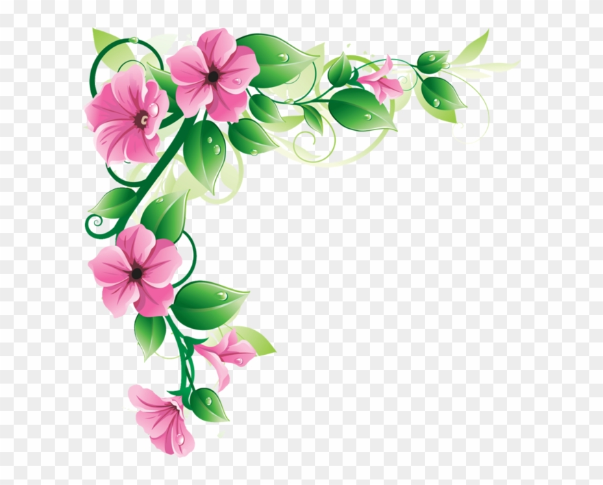 Flowers Borders Png Transparent Flowers Borders Png Pink Flower
