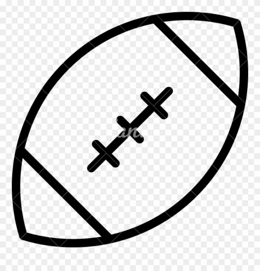 Football Outline American Icons Canva Clipart For Teachers