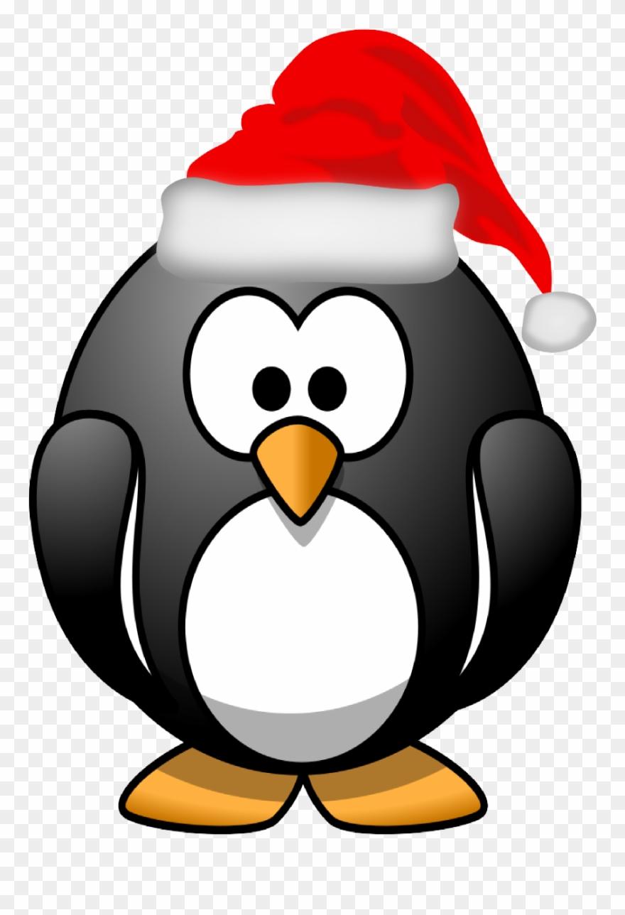Christmas penguin. Xmas stuff for clipart