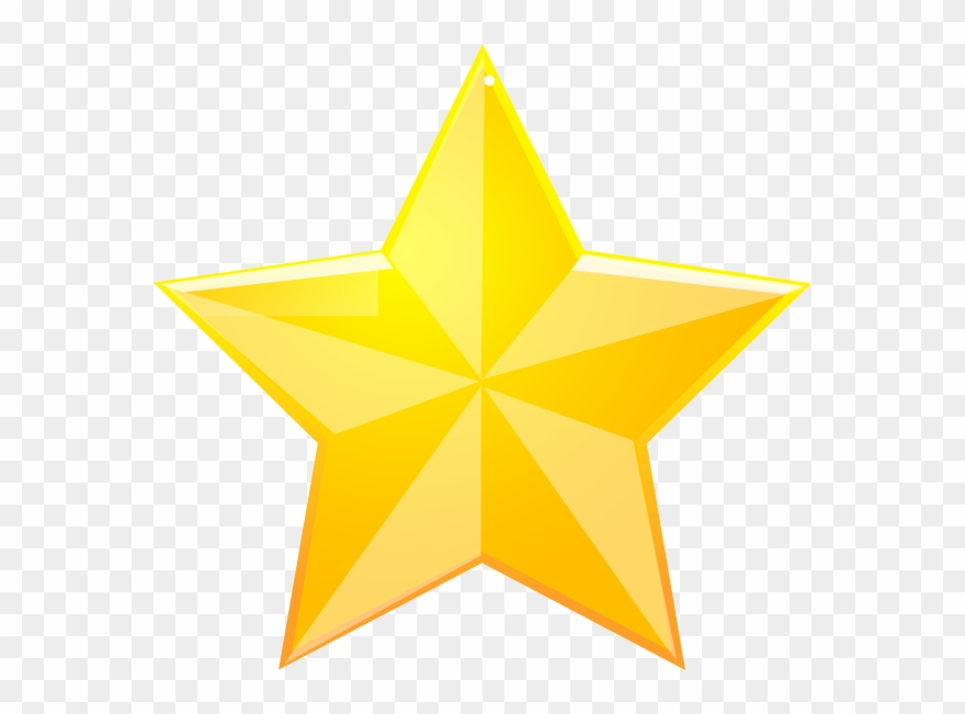 Shaded Yellow Star Clip Art - Star Transparent Background ...