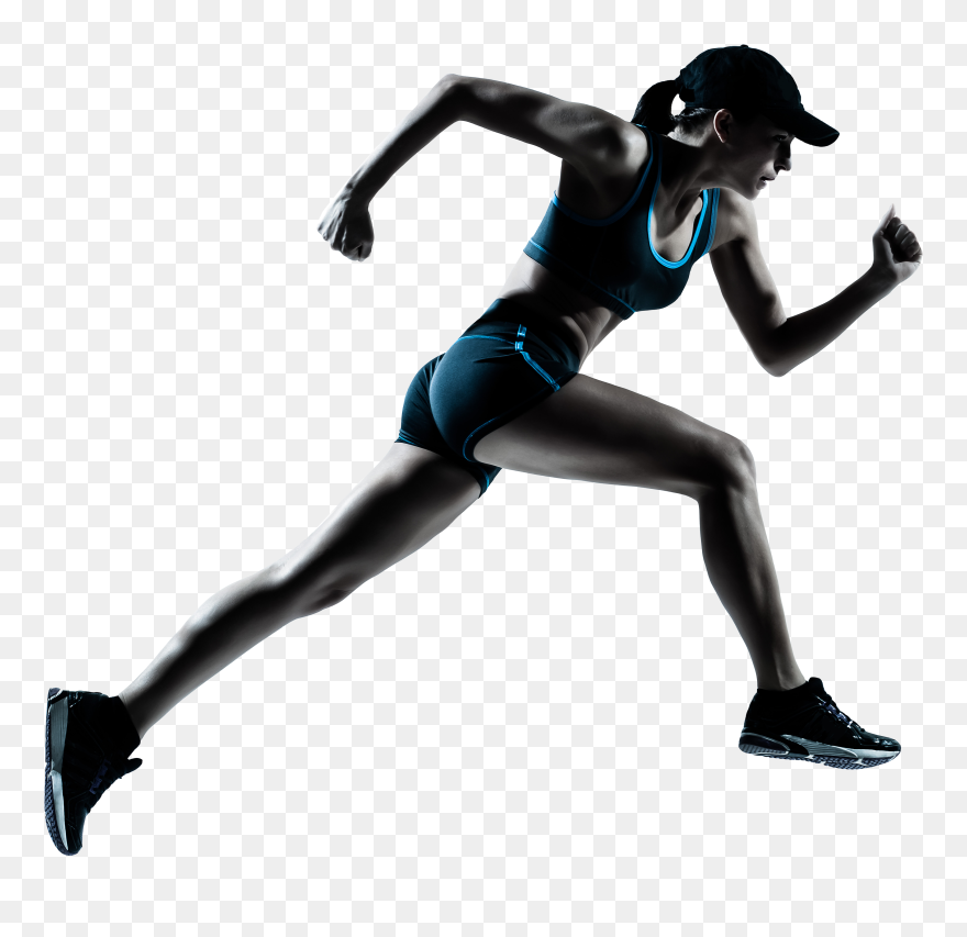 Runner Clipart Transparent Background - Running With ...