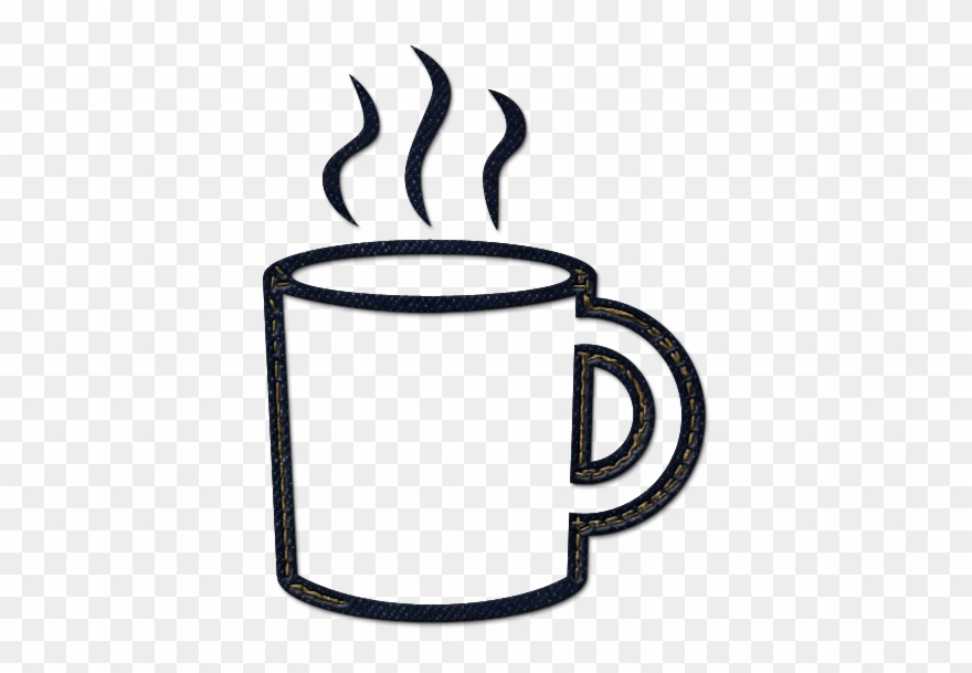 Coffee cup black and white. Clipart hot tea free