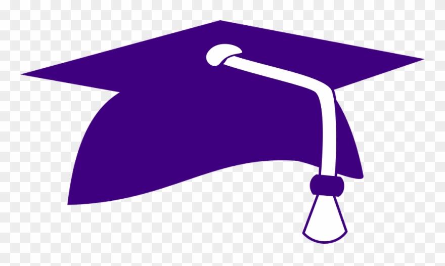 Purple graduation. Hat cap clip art
