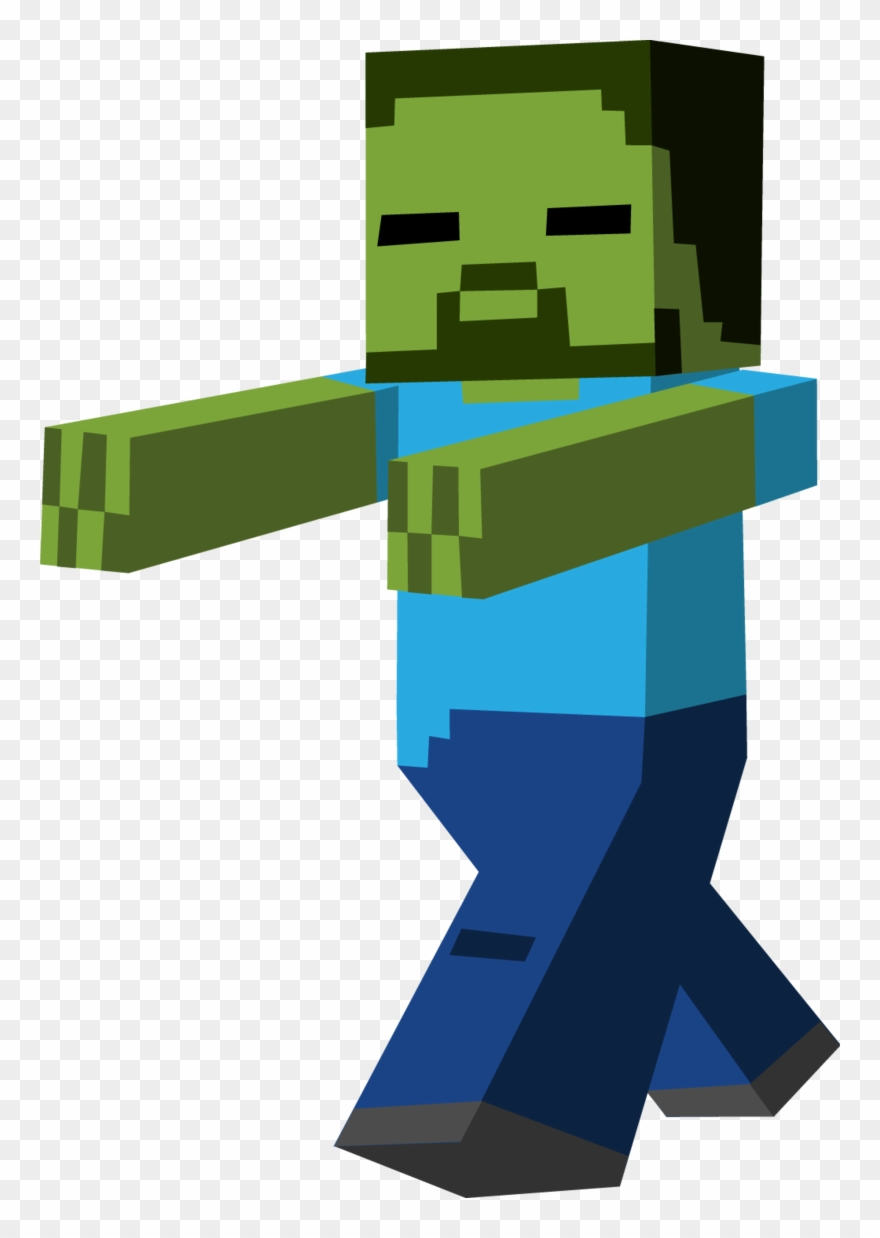 Minecraft Clipart Zombie Running Minecraft Png Transparent Png 37054 Pinclipart
