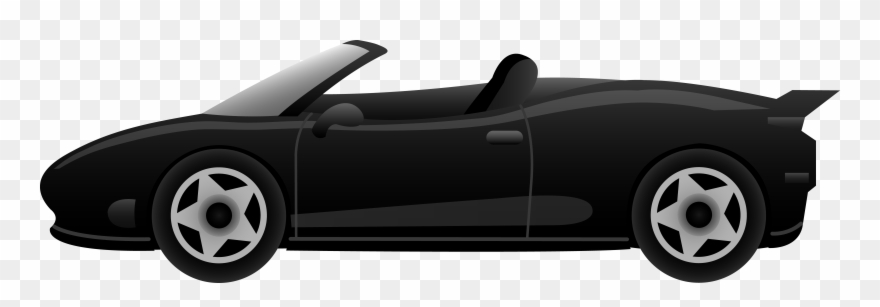 Car side view. Image of clipart black