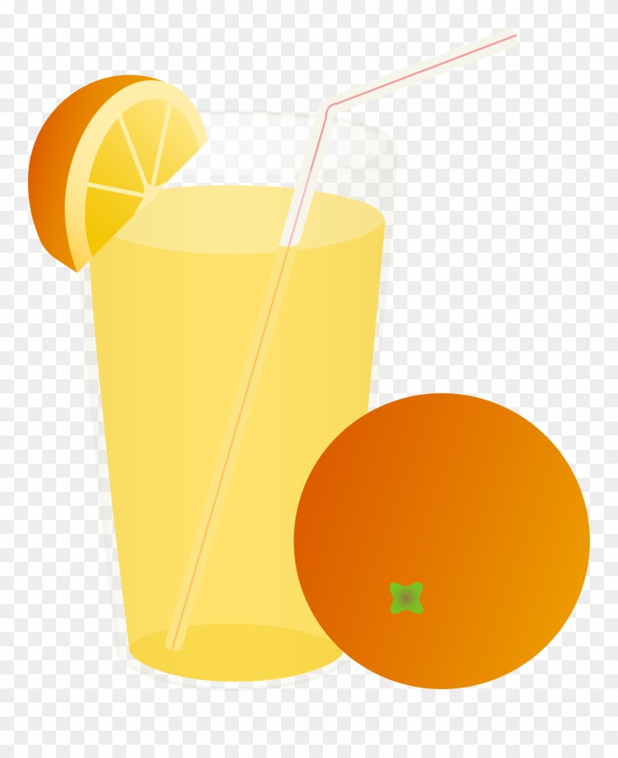 cup clipart straw orange juice cartoon transparent