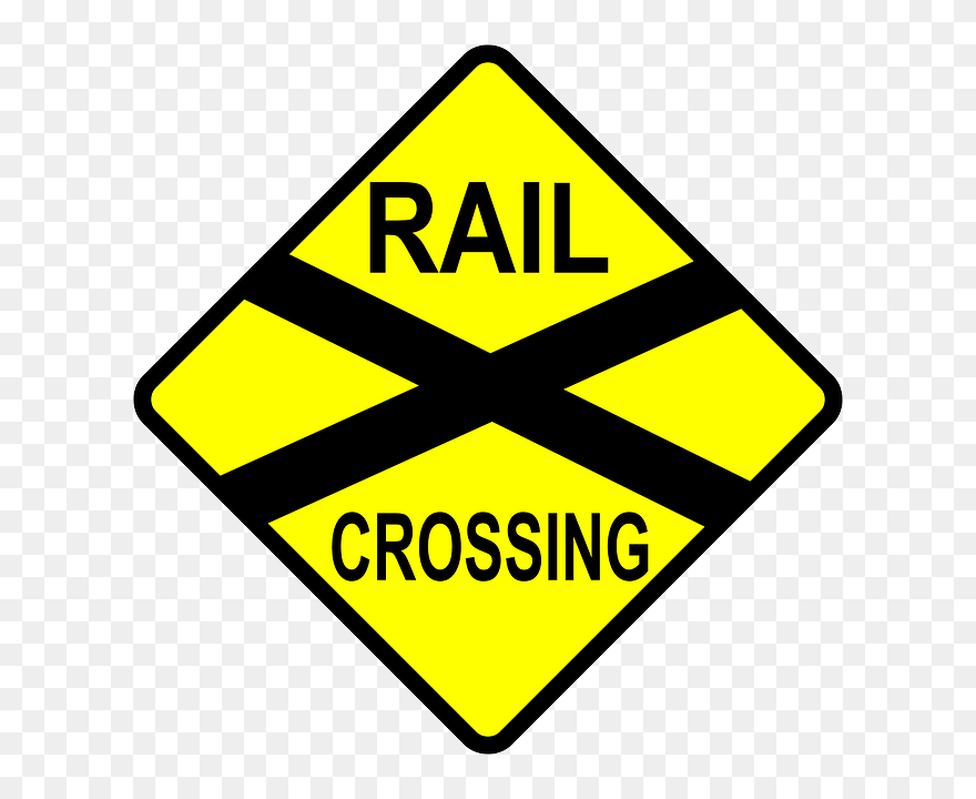 graphic relating to Railroad Crossing Sign Printable titled Educate Monitor Border Clipart - Cartoon Railroad Crossing Indications
