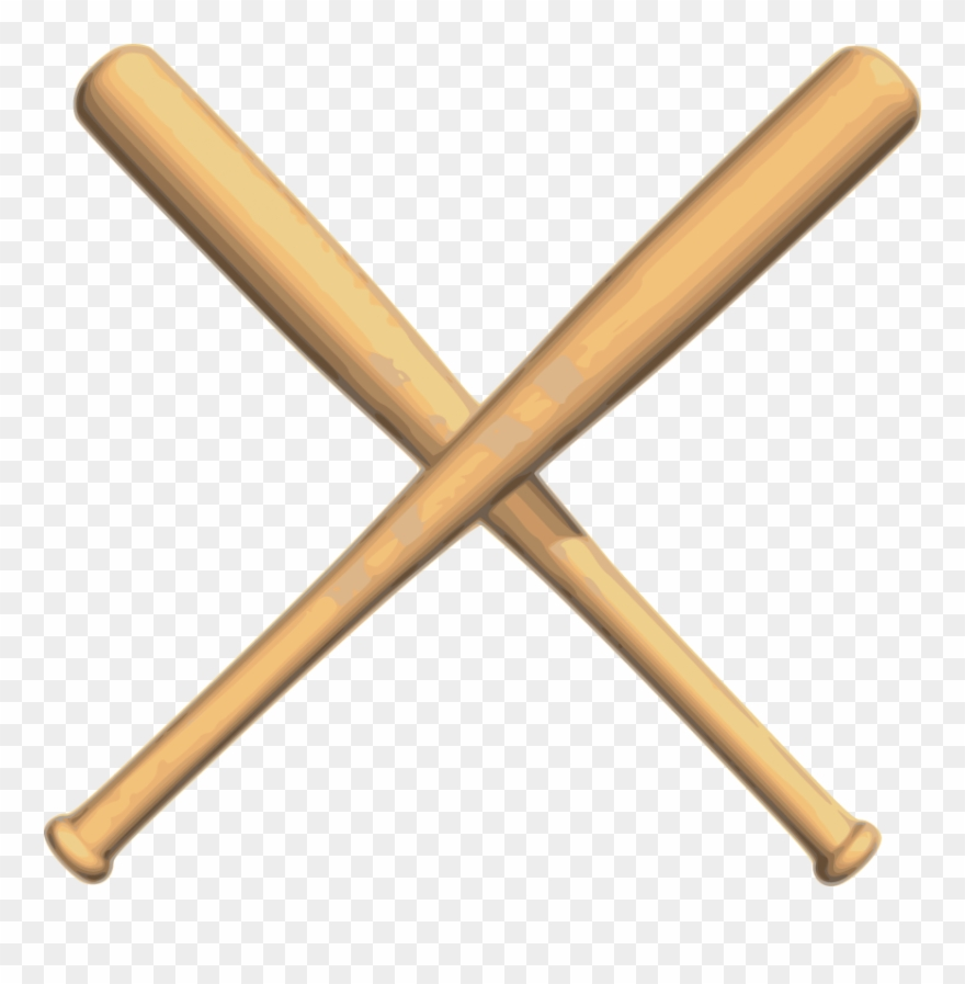 Baseball bat crossed. Bats png clipart