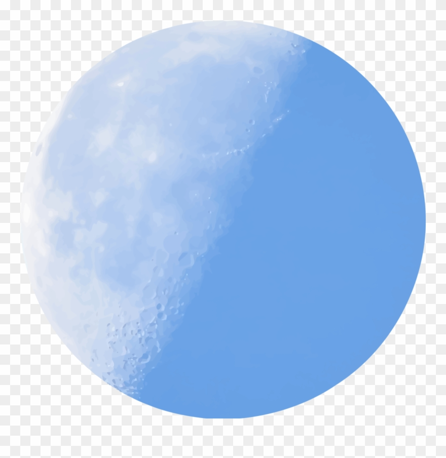 Isolated Half Moon In Daylight Icons Png - Blue Moon Clipart Transparent