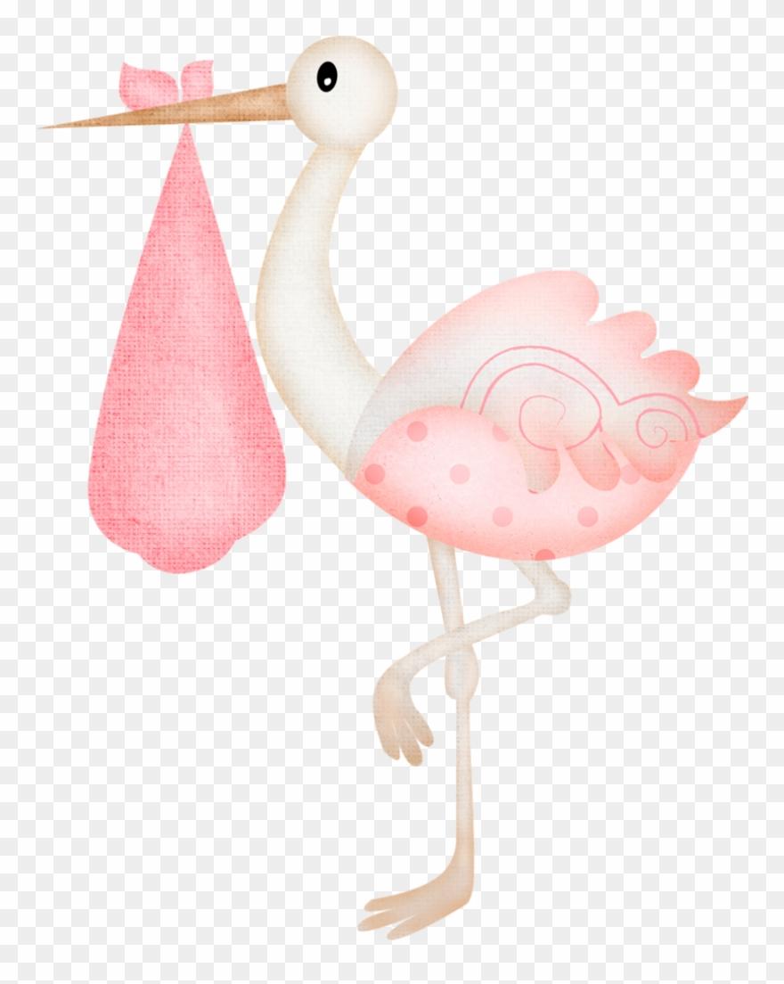Clipart Stock Clipart Stork Carrying Baby Stork Baby Shower Girl