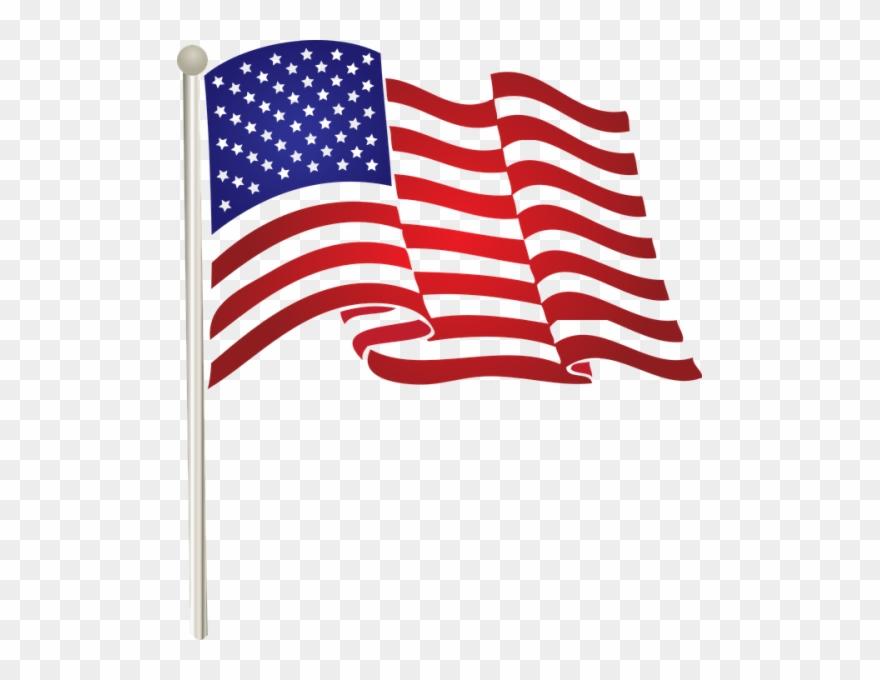 American flag transparent. Illustration png stickpng