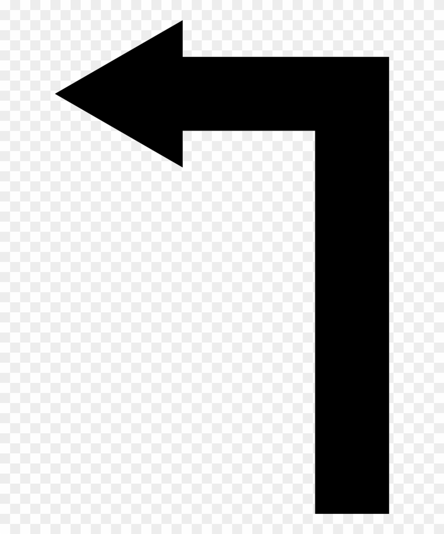9734c107e Arrow Straight Angle Turning To Left Comments Clipart. Free Download