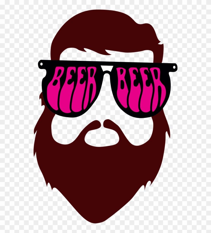 Beard man tee clipart