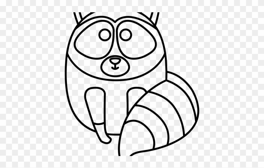 Drawn Raccoon Simple Clipart 3027740