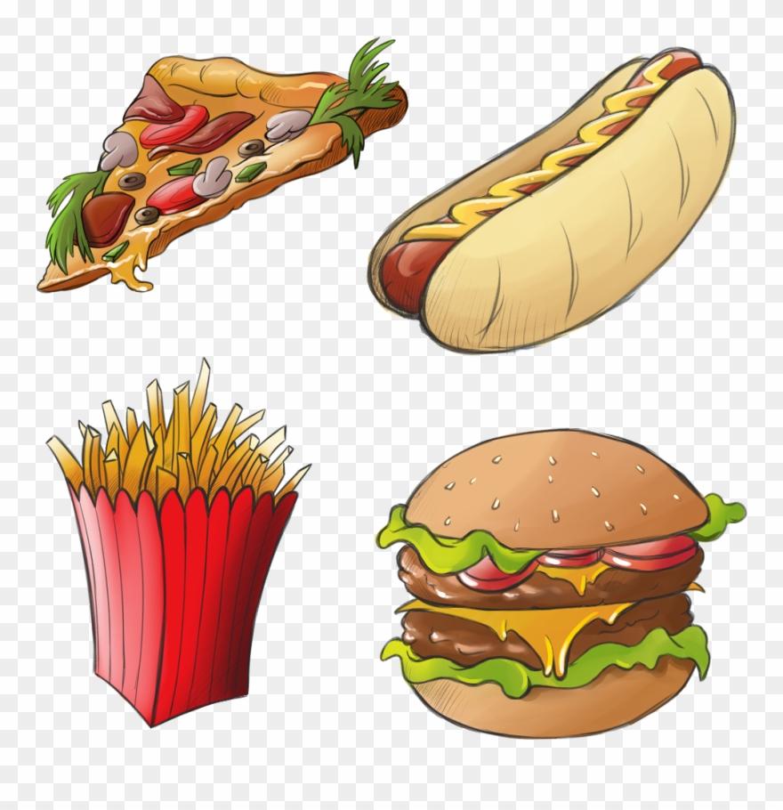 Burger Clipart Hotdog Hamburger - Hot Dog And Hamburger Clip Art PNG Image    Transparent PNG Free Download on SeekPNG