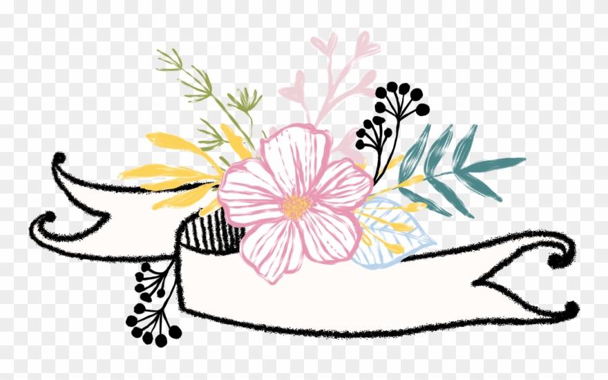 Banner flower. Banners dividers divider headers