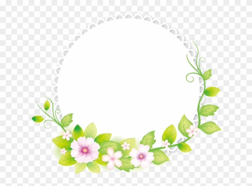 Flower Illustrator Frame Fresh Adobe Round Clipart 3051338
