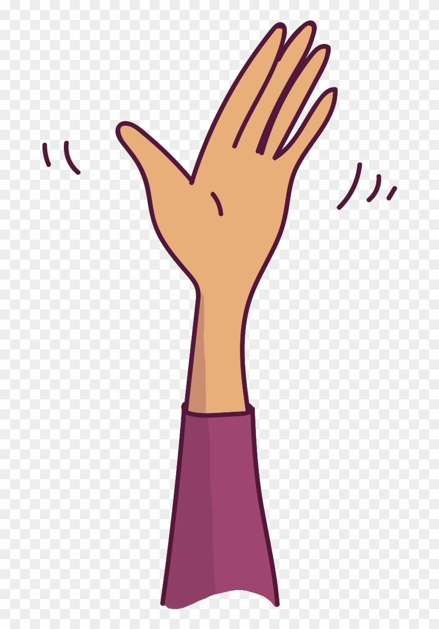 hand waving clipart - 712×1180