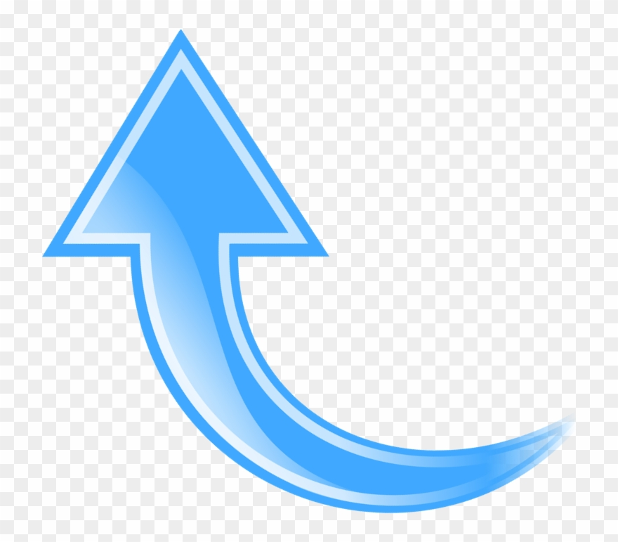 Arrow blue. Curved clipart arrows free